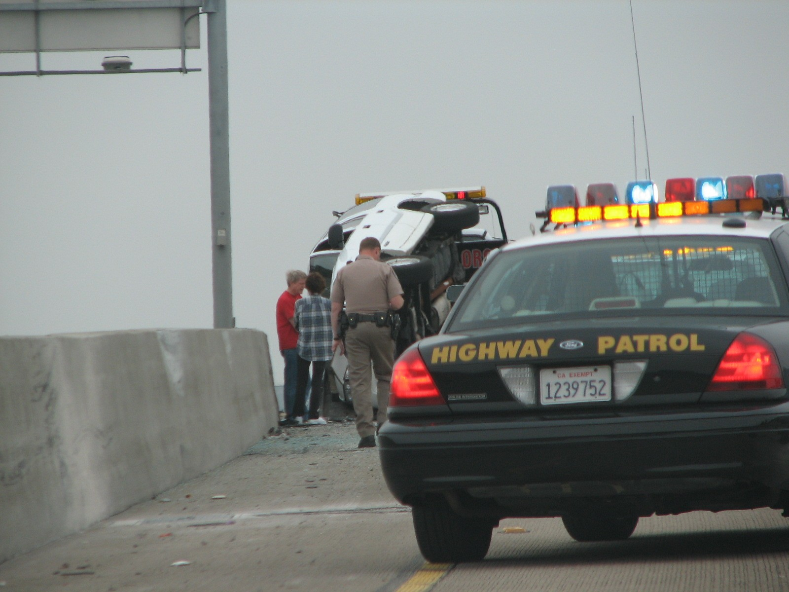 Suspect Steals CHP Car in a chase