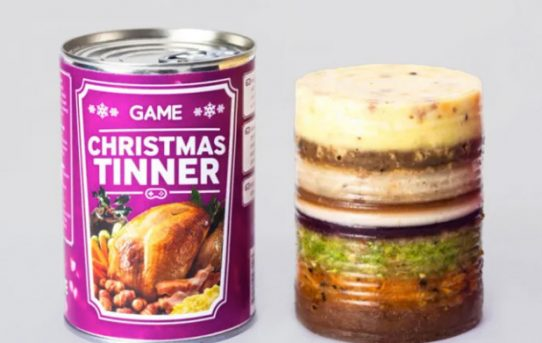 Tech company develops Christmas dinner in a can for 'hardcore gamers'